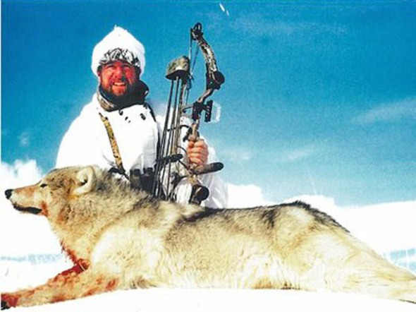 Mike Deschamps with Wolf