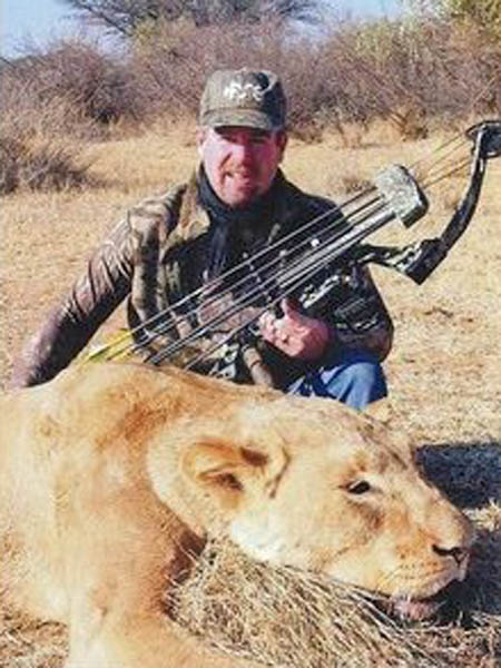 Mike Deschamps with Lioness