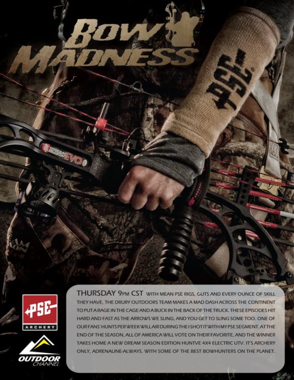 Bow Madness premieres PrimeTime tonight at 9pm CST on Outdoor Channel