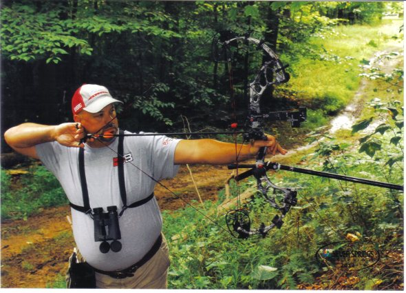 Eric Grippa with his PSE Omen Pro