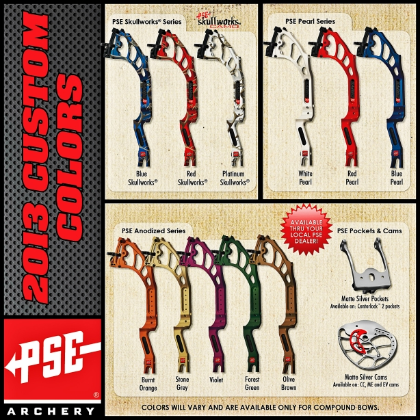 2013 PSE Custom Bow Colors