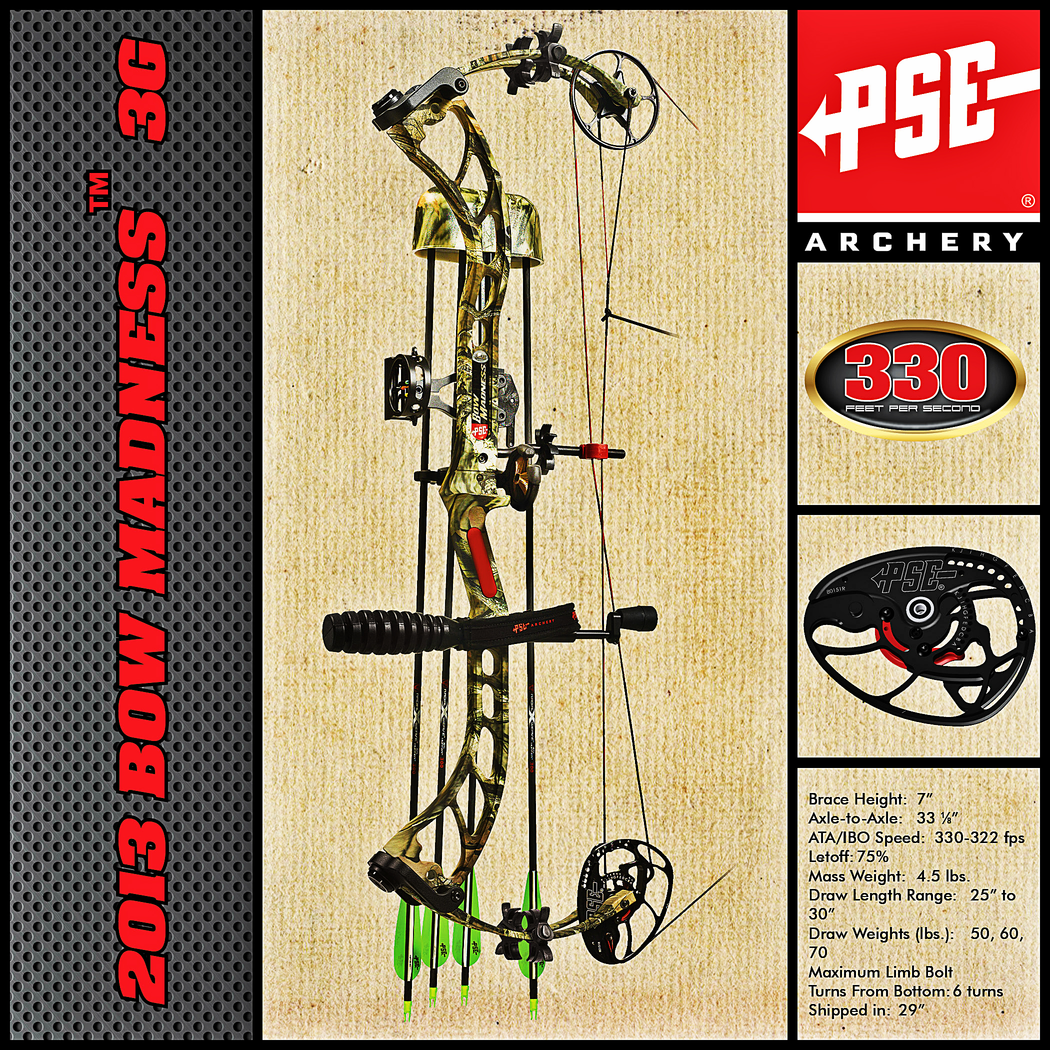 in a New Generation of Performance with the 2013 PSE Bow Madness 3G