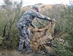 Camouflage netting comes in handy for making DIY ground blinds