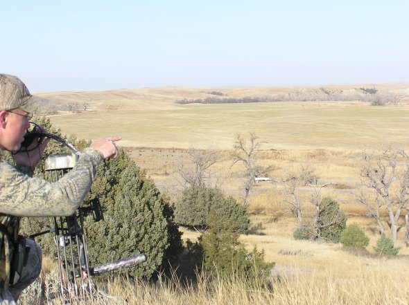 Jared goes over terrain features and counts the various features to be sure where he is at once he starts the stalk.