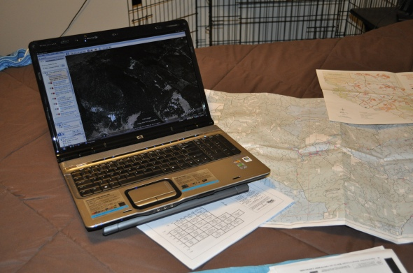 Mapping software and maps come in very handy.