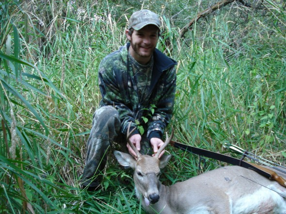 My first deer with archery equipment.
