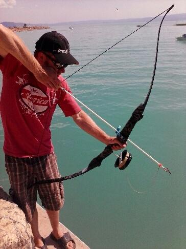 Curt Coates Bowfishing on Bear Lake